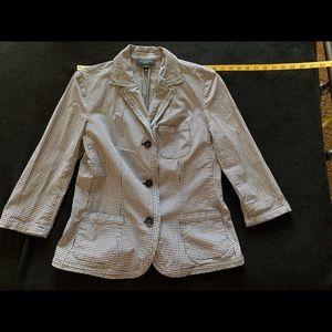 Talbots gingham jacket